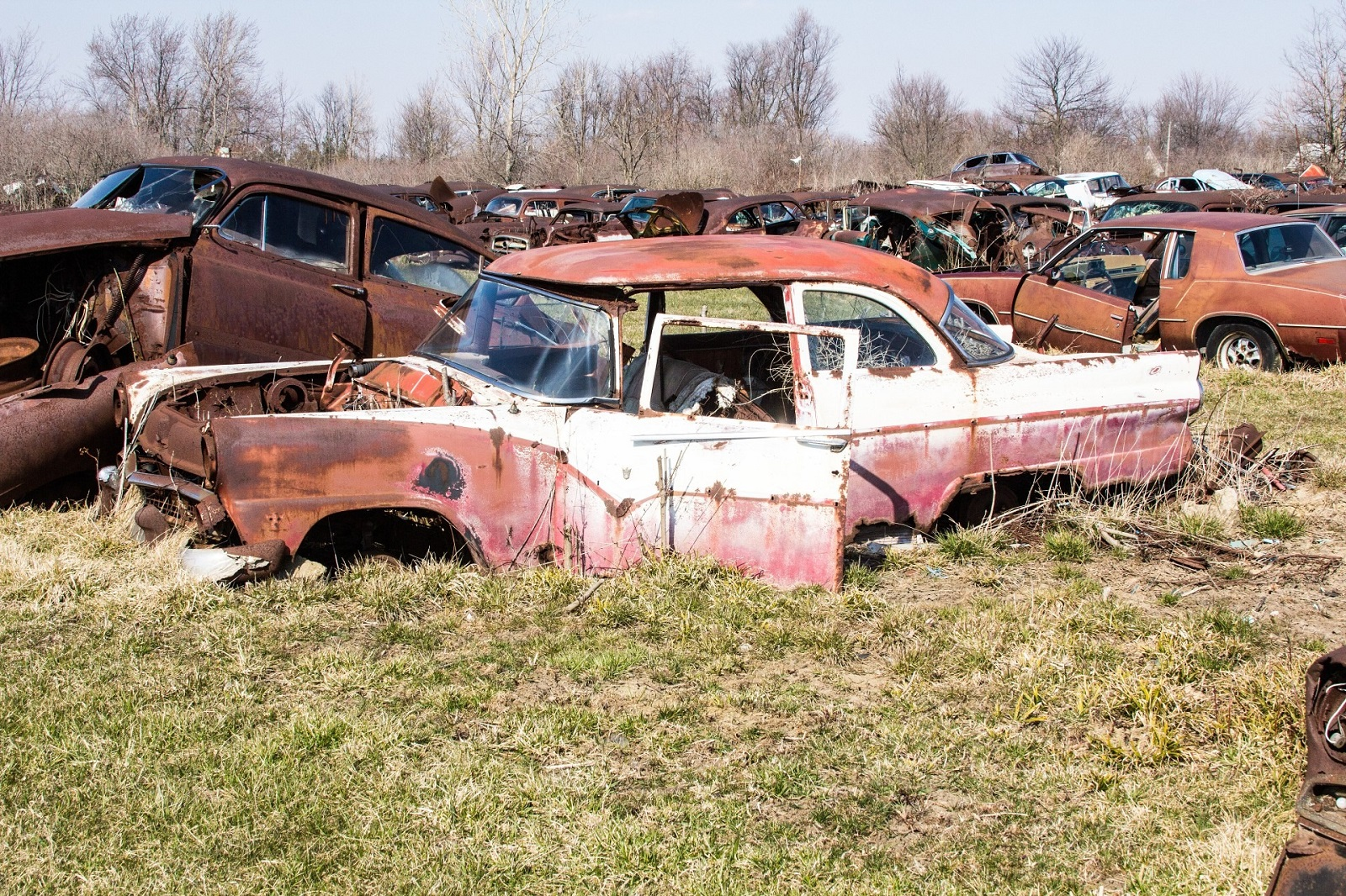 Junk american car in JunkYard